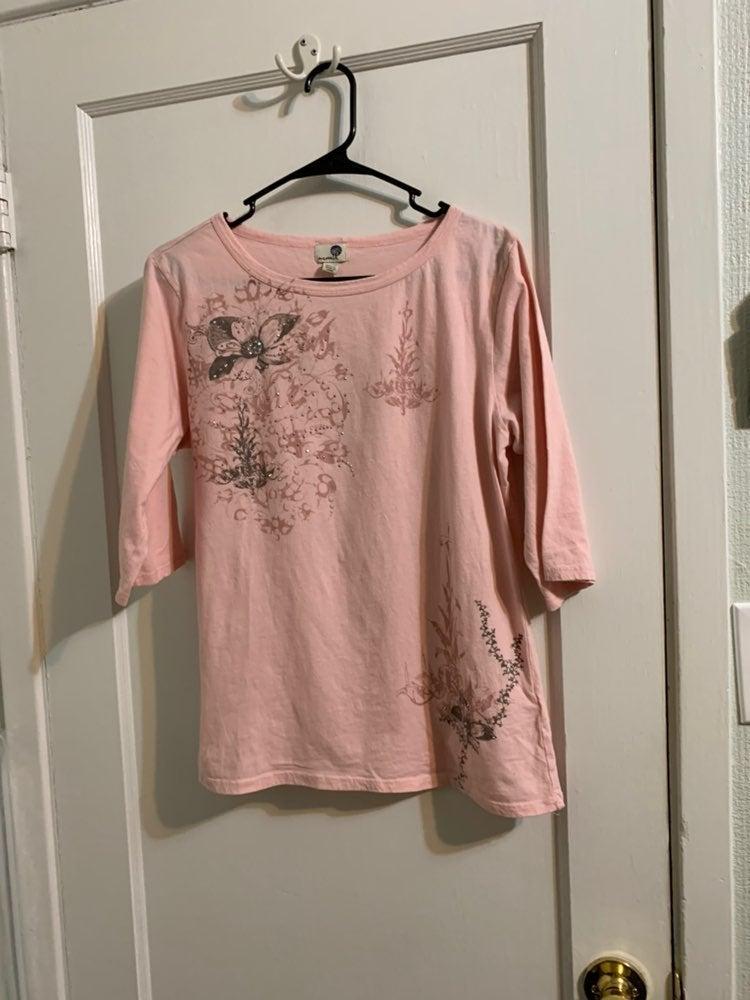 Pink One World 3/4 sleeve XL