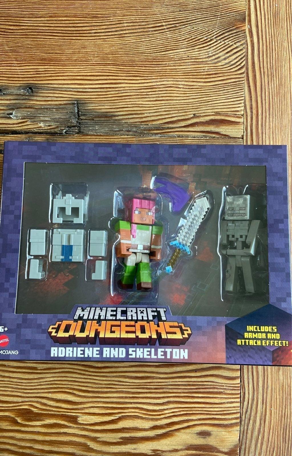Minecraft Dungeons ADRIENE AND SKELETON