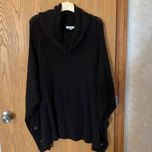 Black Poncho like sweater