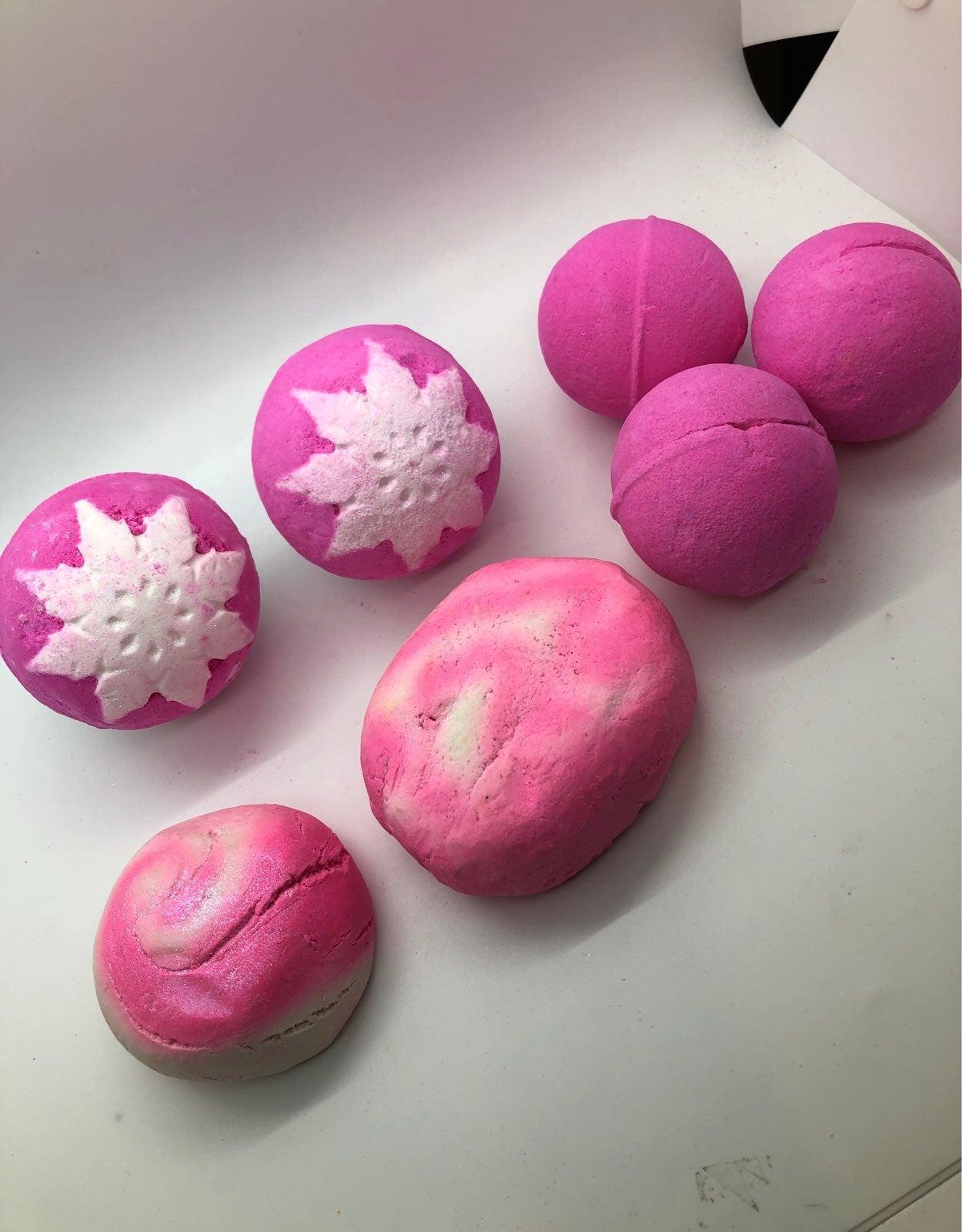 lush snow fairy bubble bomb lot mini