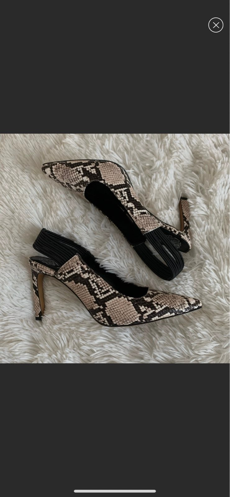 New Vince Camuto Snake embossed leather