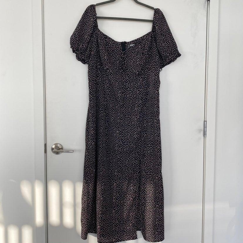 Missguided Milkmaid Tie Bust Midi Dress
