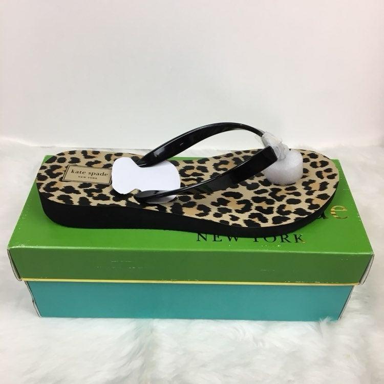 Kate Spade Sz10 Milli Leopard Wedge Flip