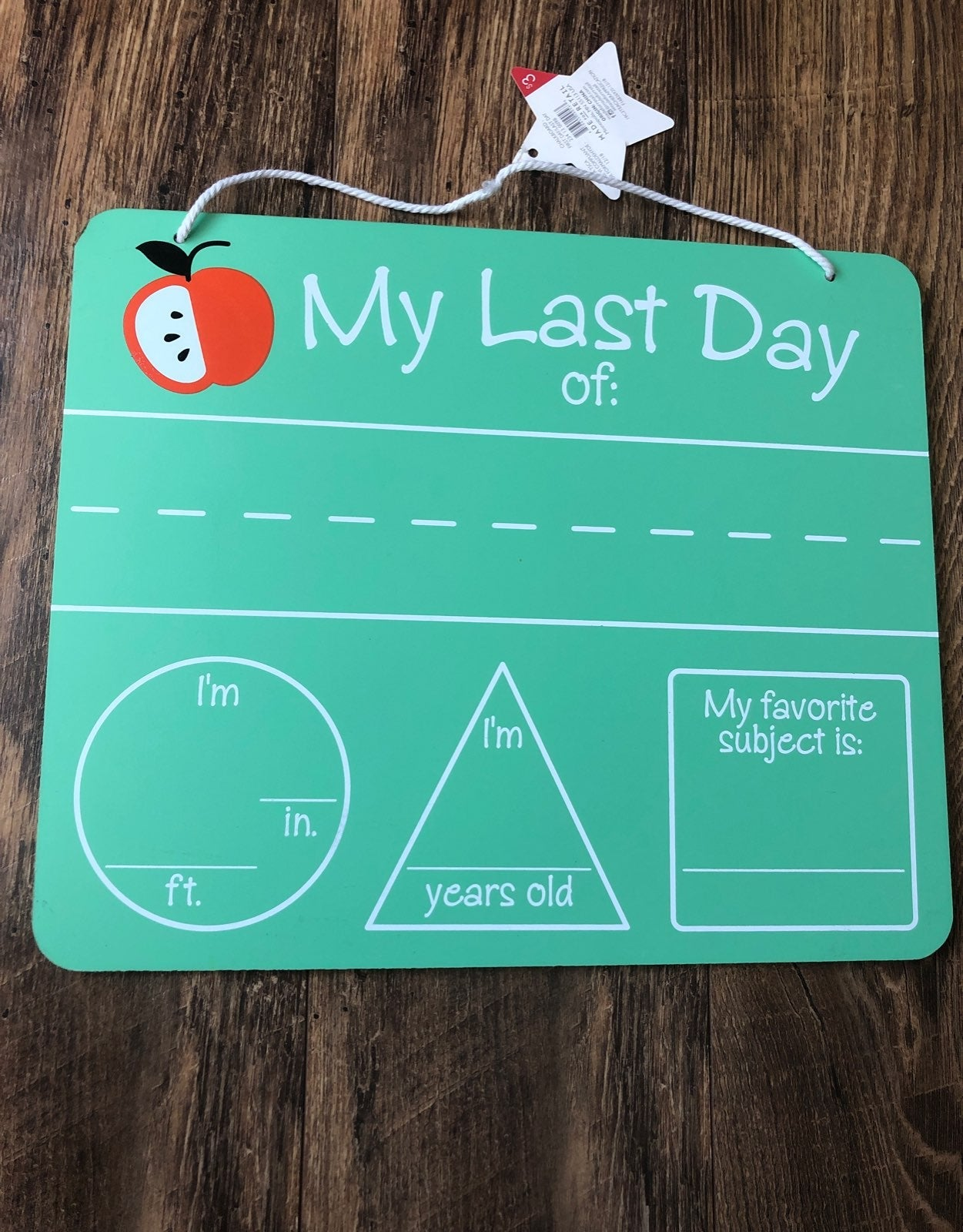 My First/Last Day of School Sign