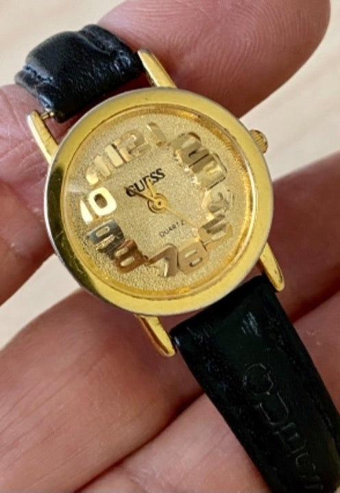 1990s Guess Watch Raised 3-D Numerals