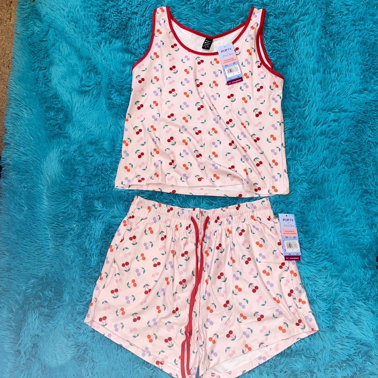 NWT Cheek Boss Loungewear Pajamas Set