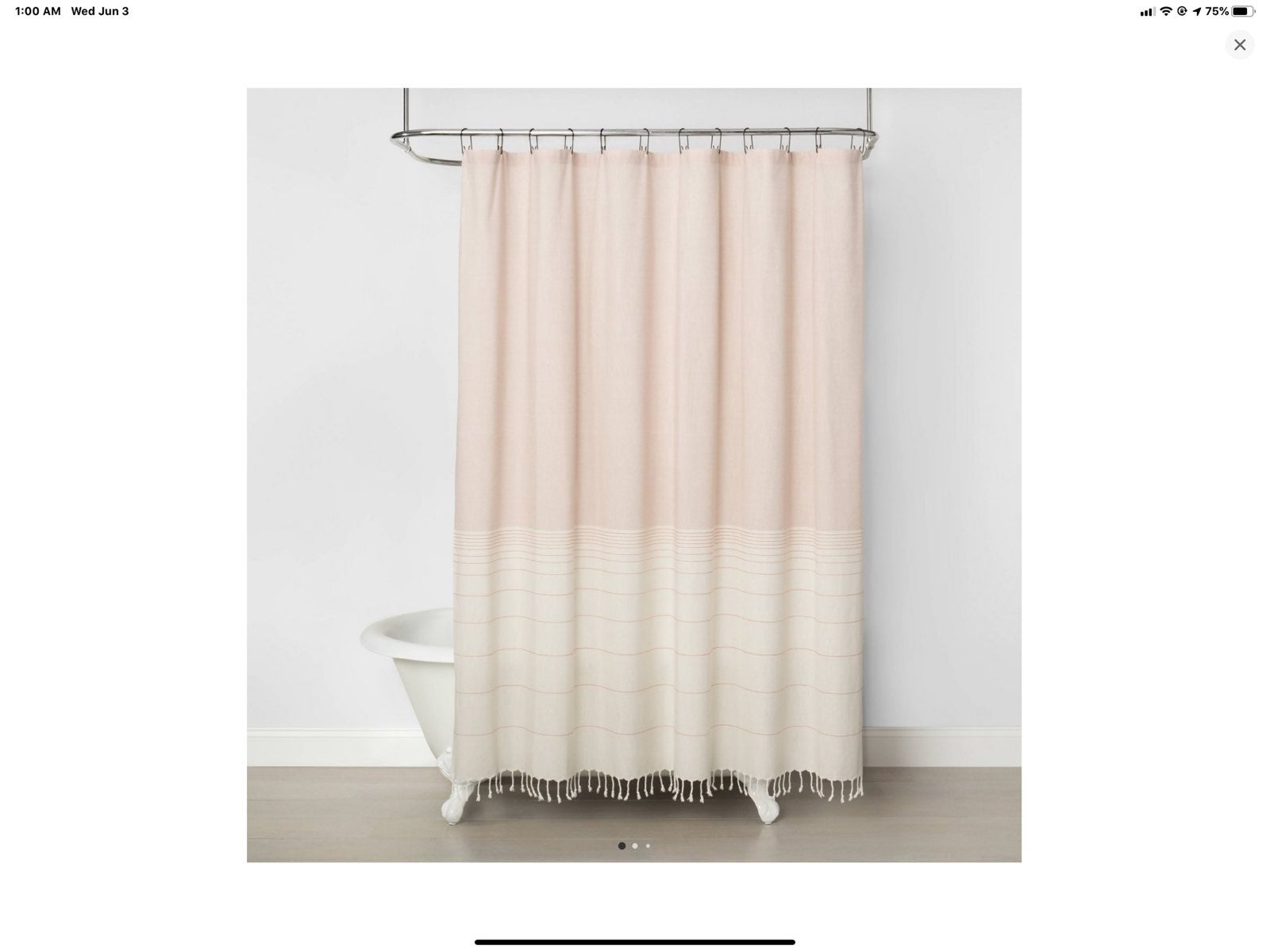Hearth & Hand Ombre Shower Curtain