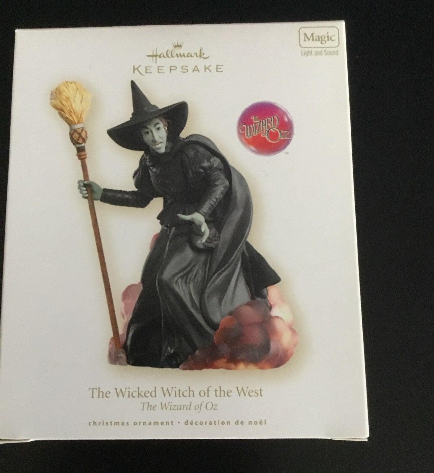 wizard of oz wicked witch ornament
