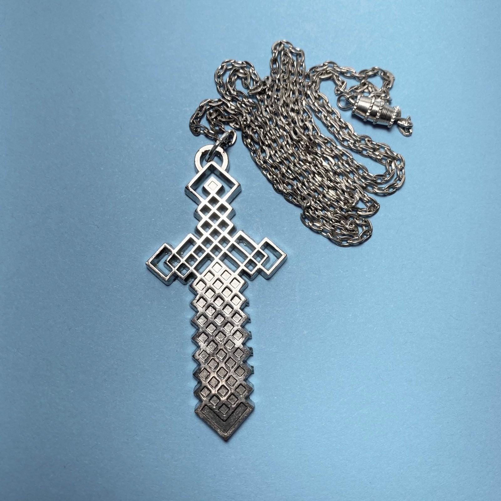Minecraft Sword Pendant Necklace