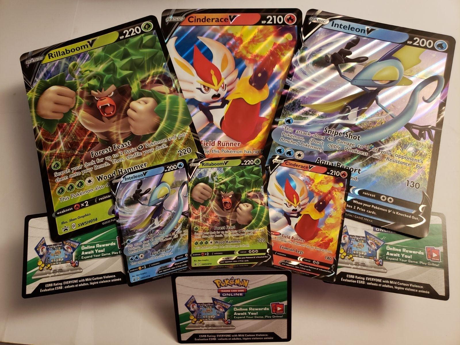 Rillaboom Pokemon Card Pack Fresh Mint