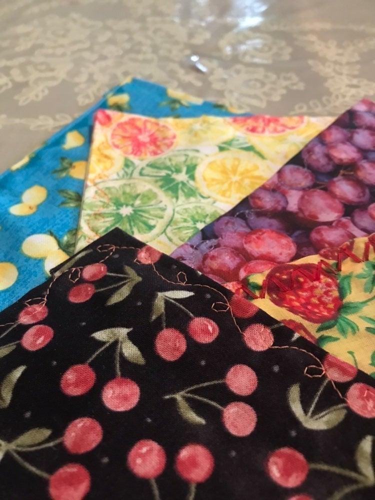 Assorted fruit Fabric napkins