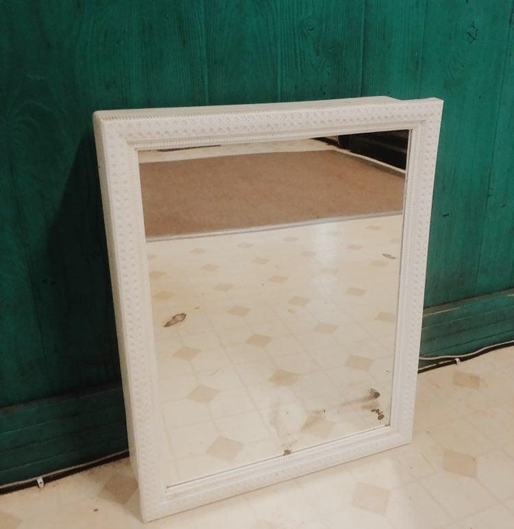 Vintage White Medicine Cabinet Mirror