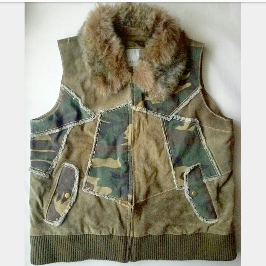 Wilsons Leather Maxima Camo Fur Vest