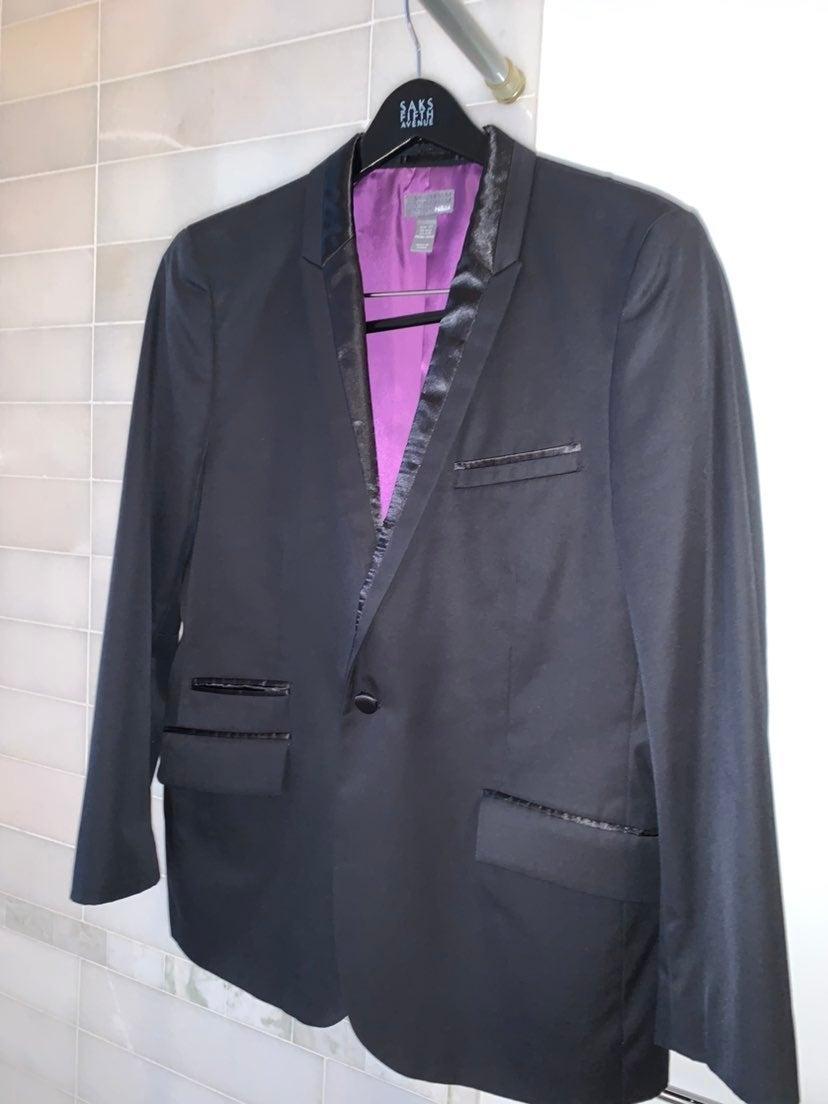 Mens Jacket w/Satin Lapel Size 42R