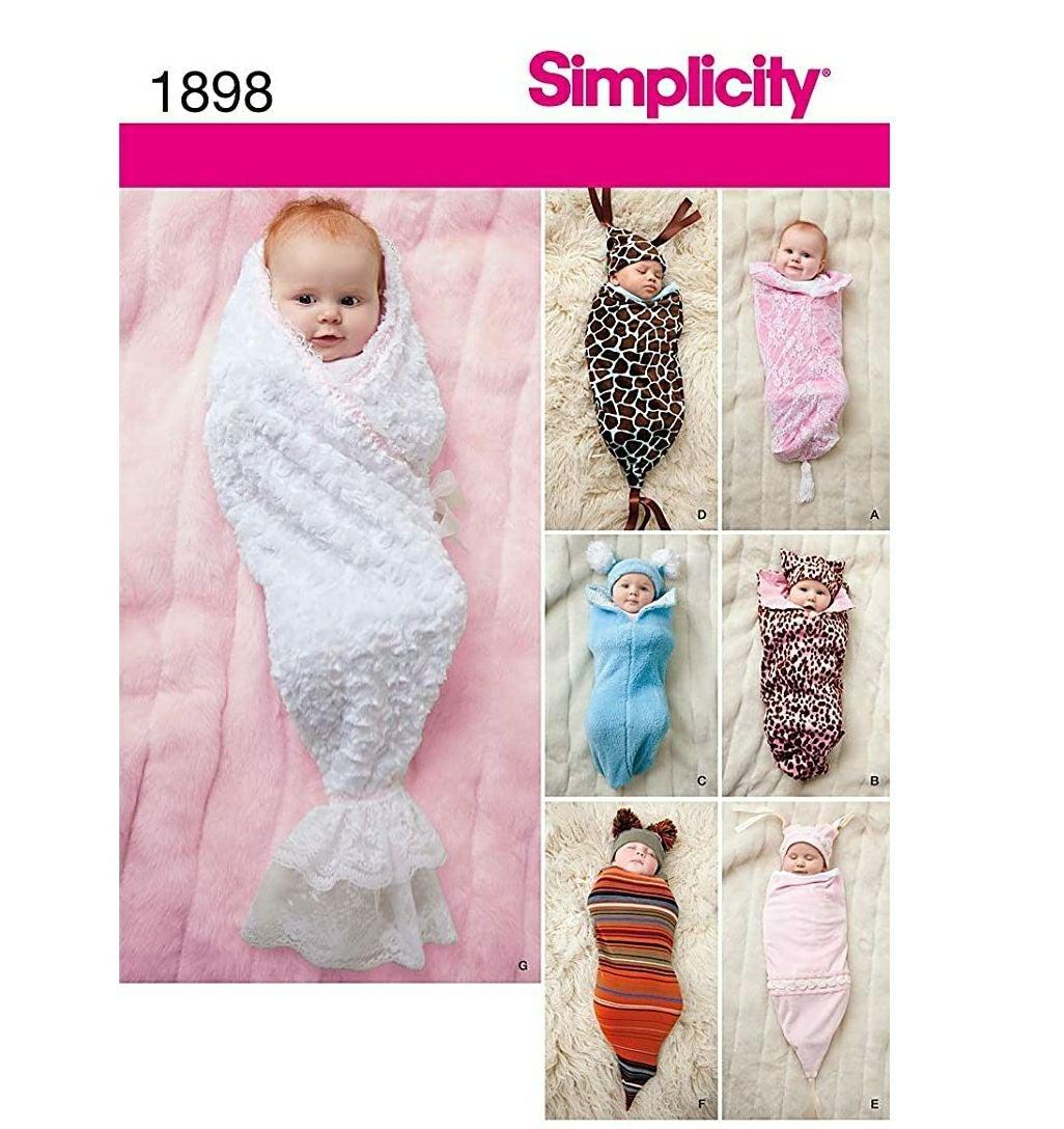 Simplicity 1898 Babies Swaddling Sacks S