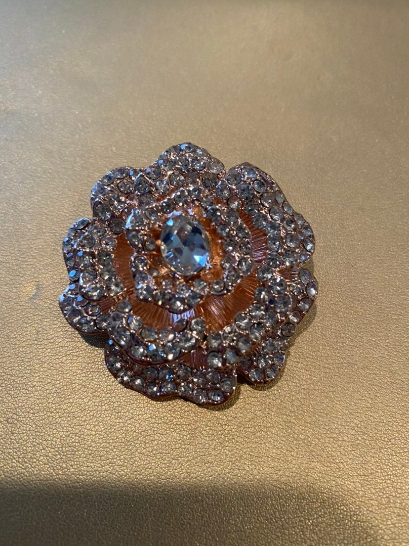 Rose Gold Flower Pin