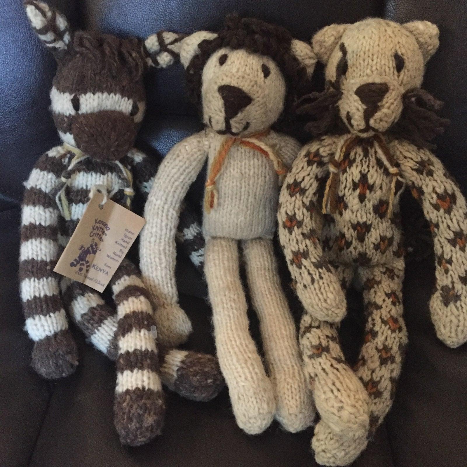 Vintage Knit Animals