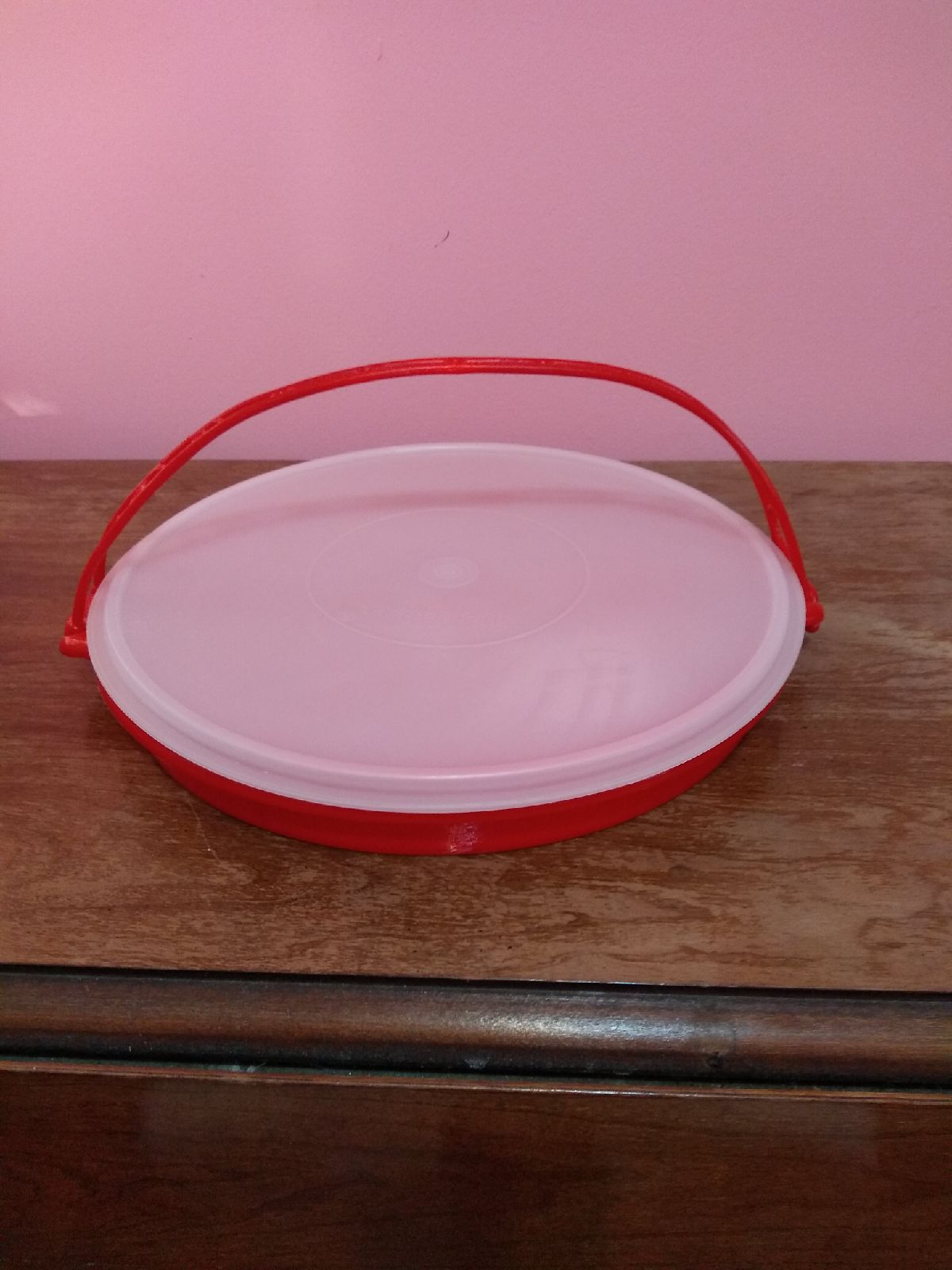 Tupperware Red Divided Dish