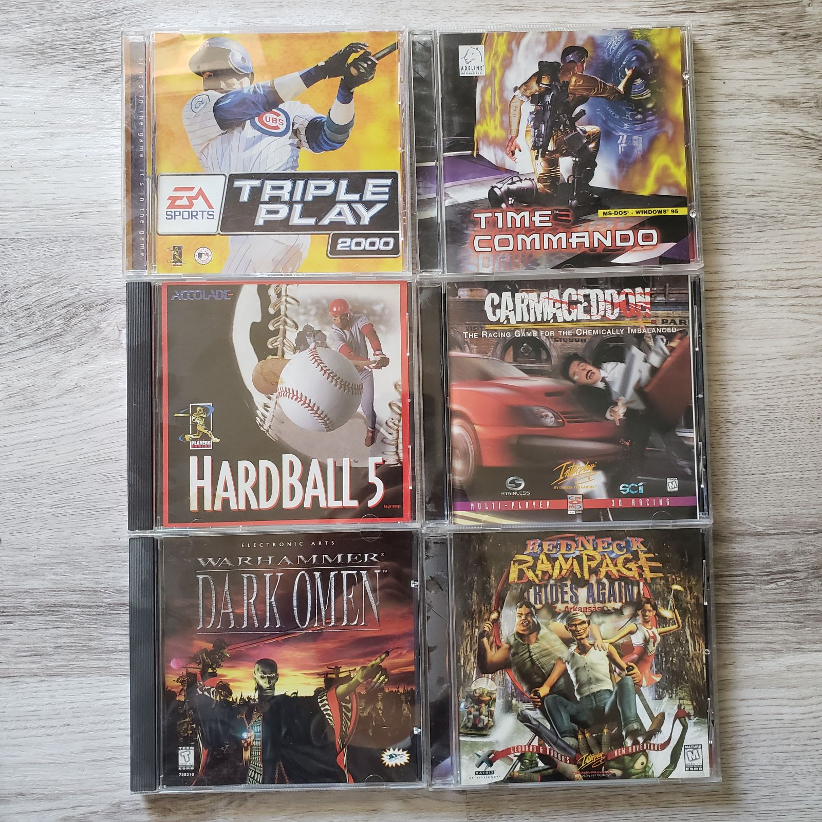 Vintage PC Games Mixed Lot of 6 Games