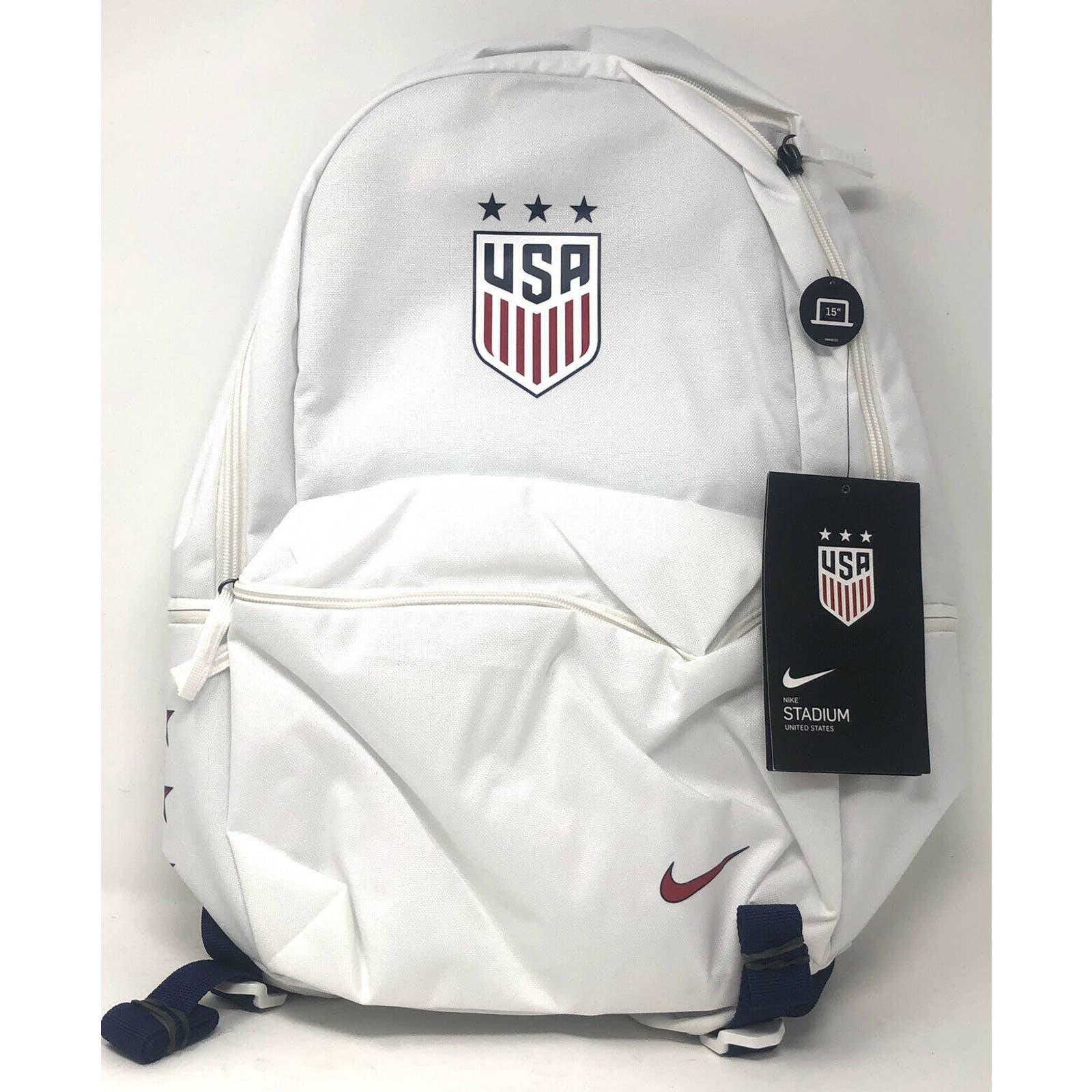 Nike USA Stadium Soccer Backpack white