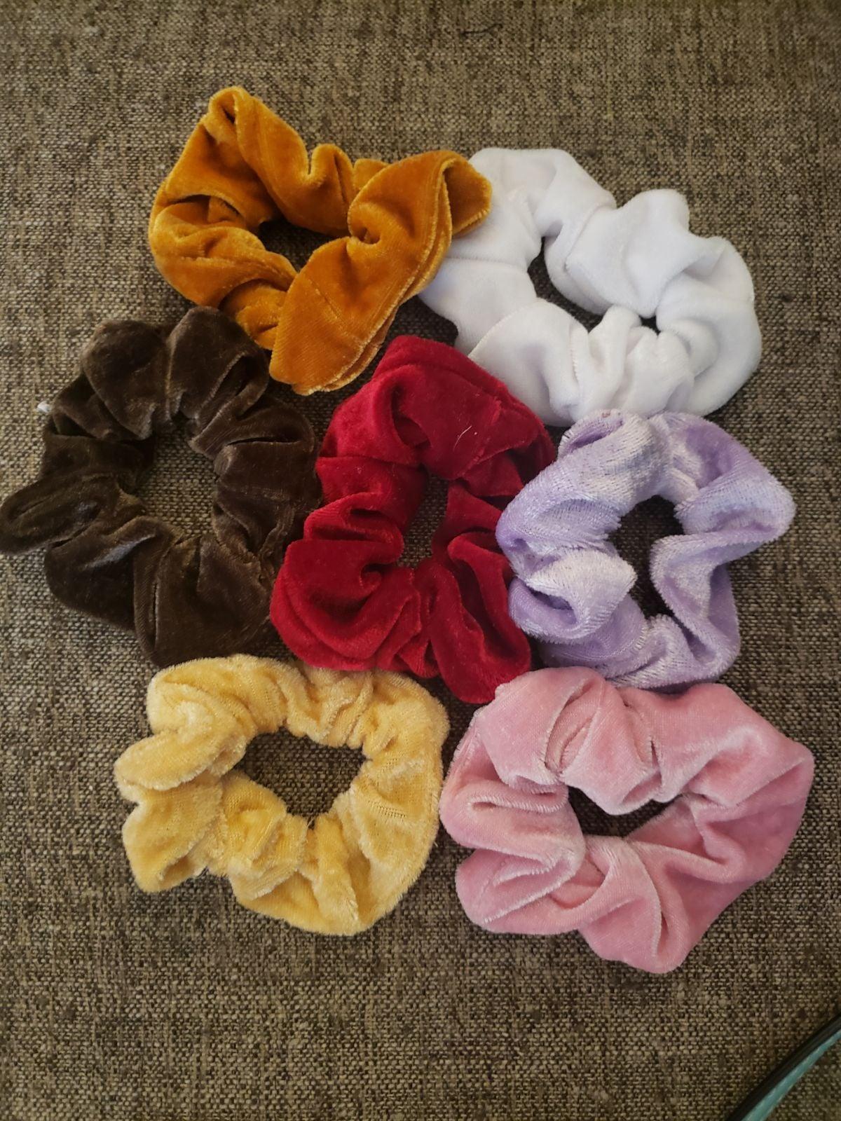 """NWOT """"Velvet"""" Scrunchies (bundle of 7)"""