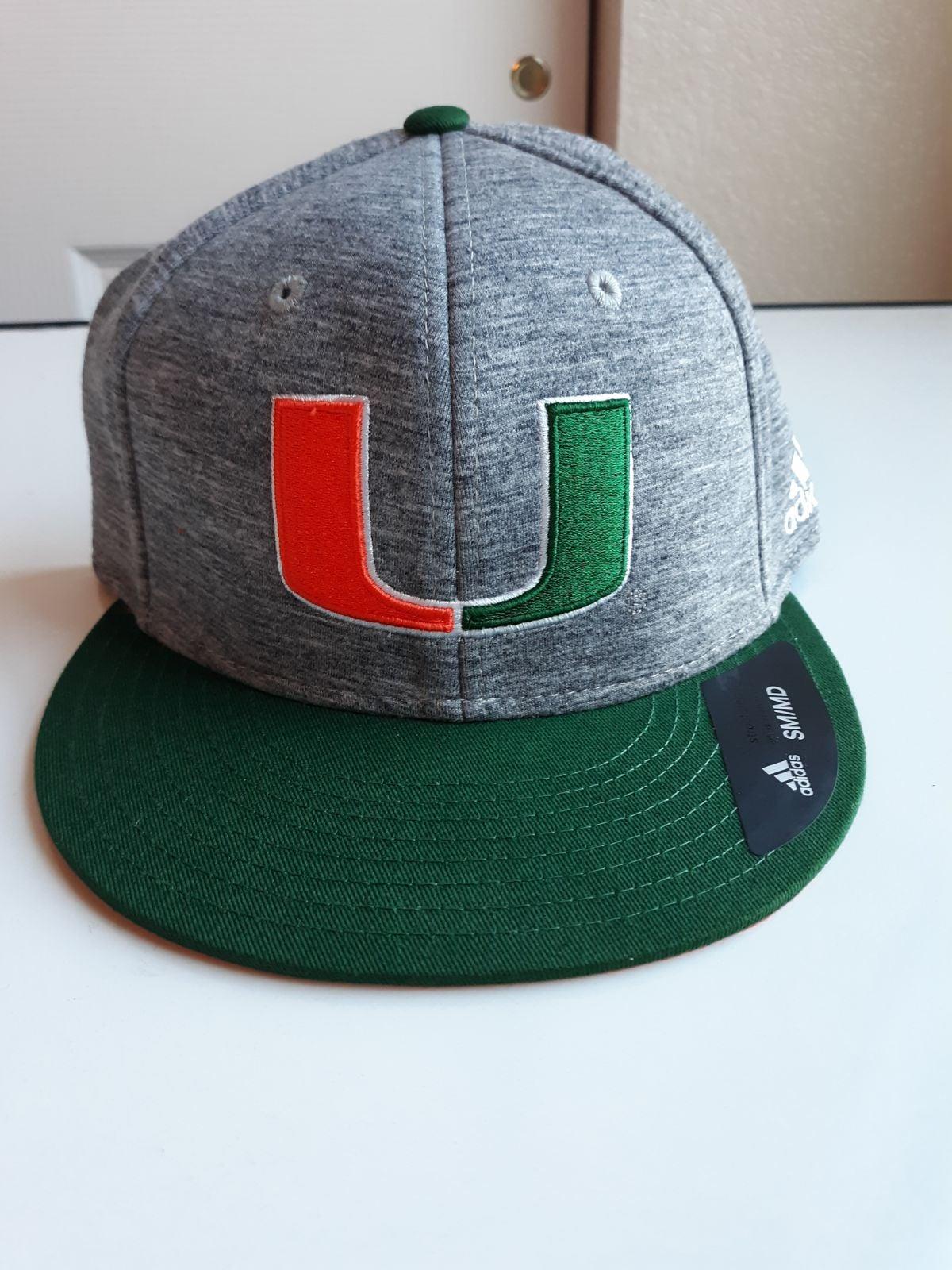 Adidas Miami Hurricanes NCAAHat Gray/Gre