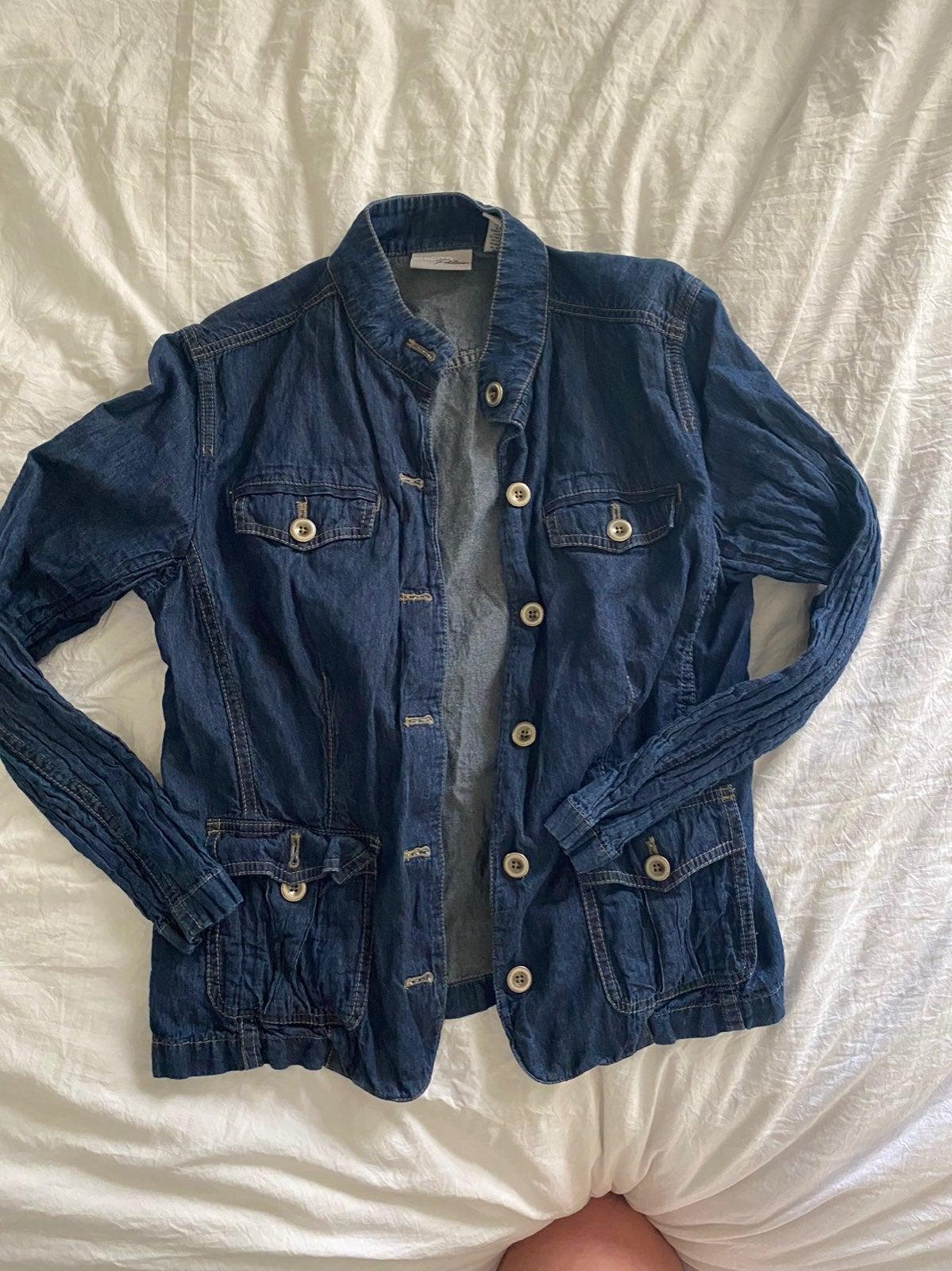 Chicos platinum denim jacket