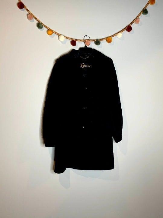 Guess wool blend black pea coat