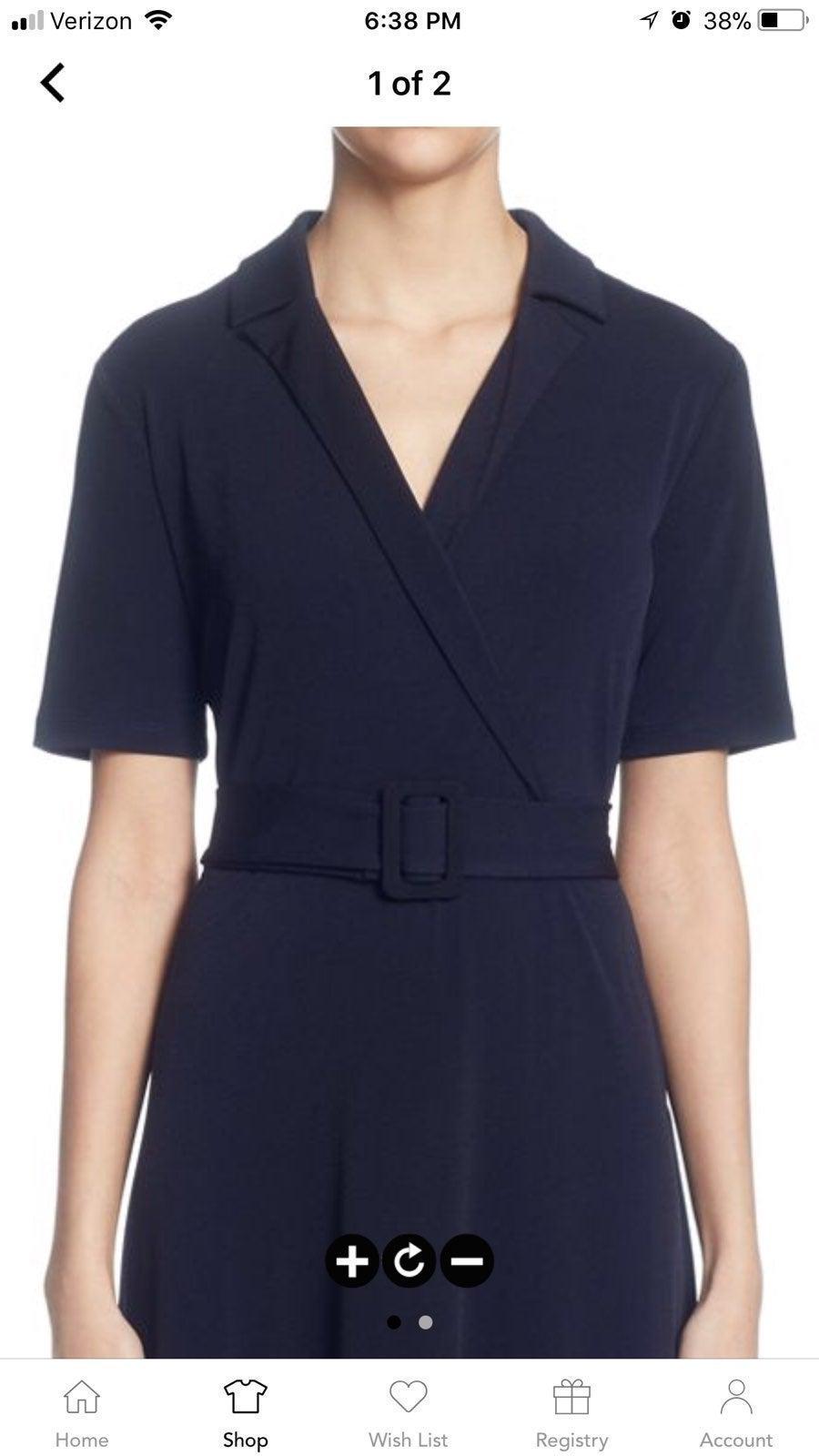 NWT T Tahari Belted Midi Dress XS