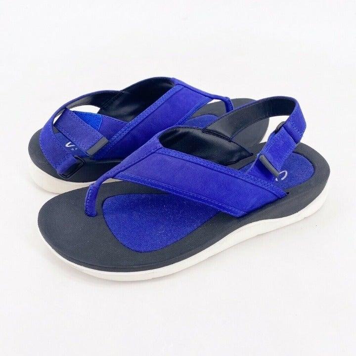 Clarks Womens Flat Sandals Blue Size 6