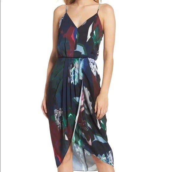 Chelsea 28 Print Faux Wrap Dress - Sz 4