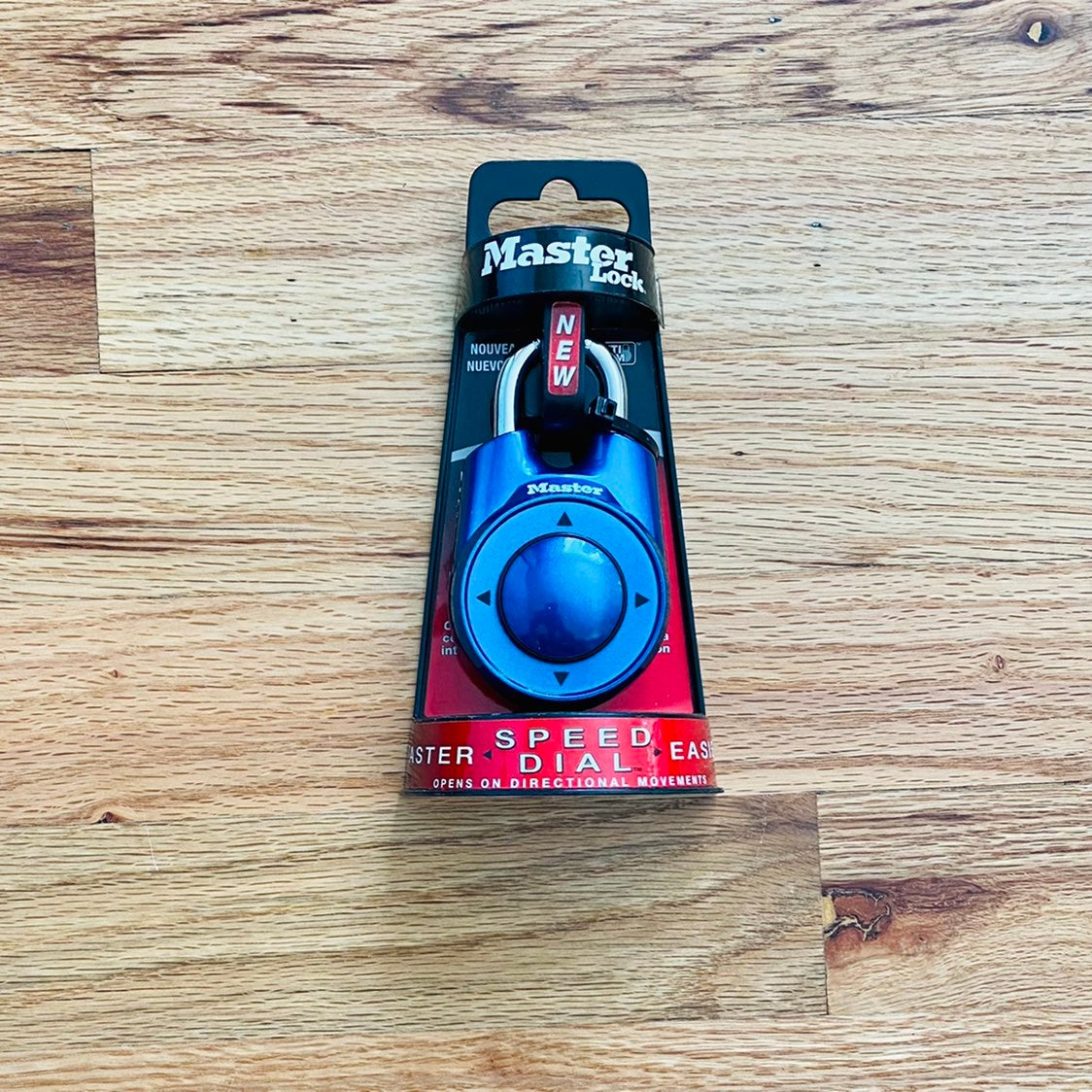 NEW Masterlock Speed Dial Lock - Blue