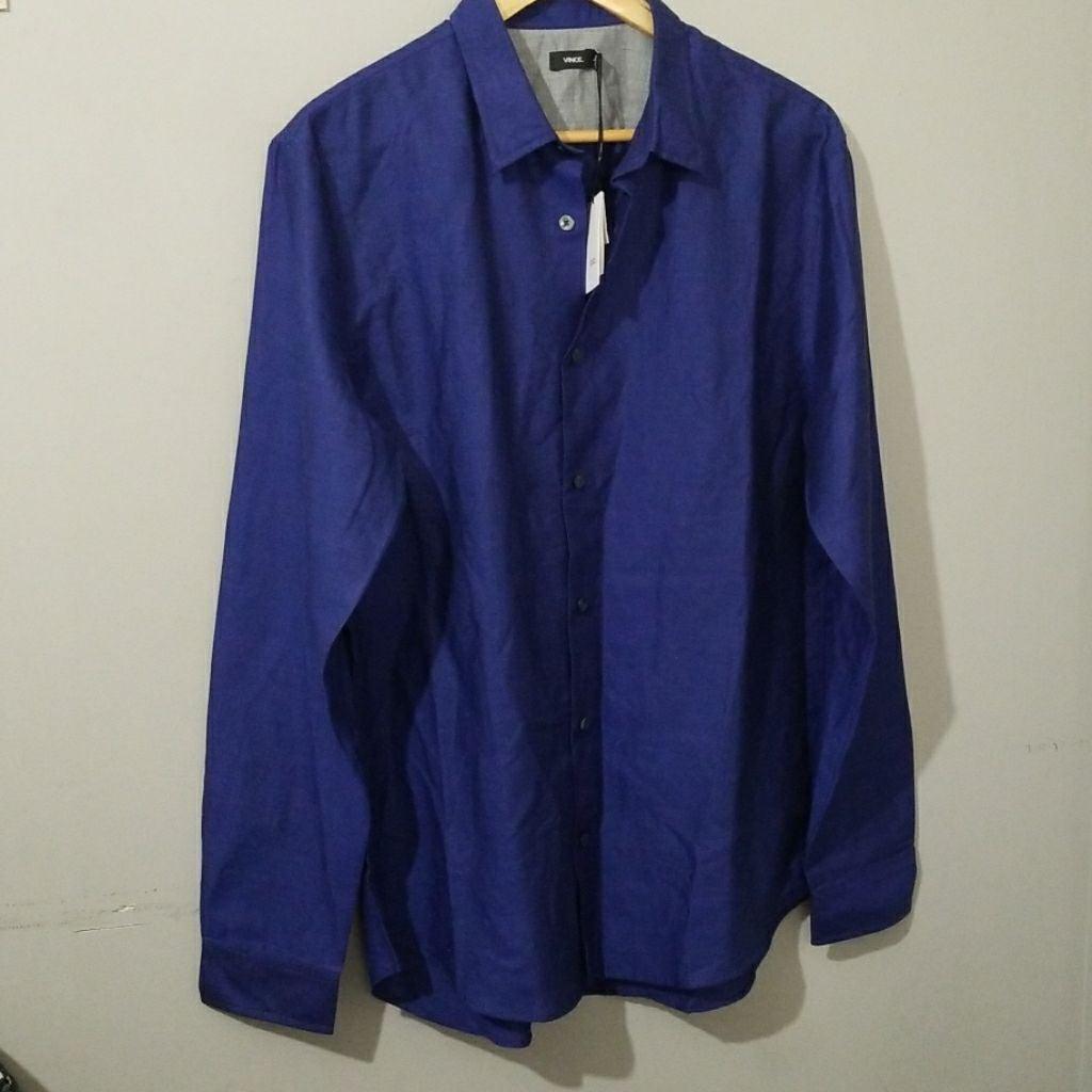 Men's Vince Blue Dress Shirt Large