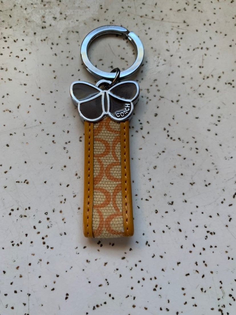 NEW Authentic Coach Butterfly Fob Keyrin