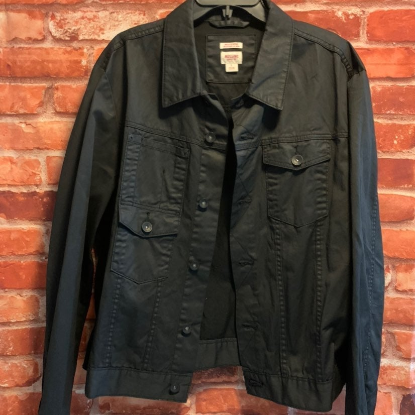 Mossimo Mens Large Black Jean Jacket