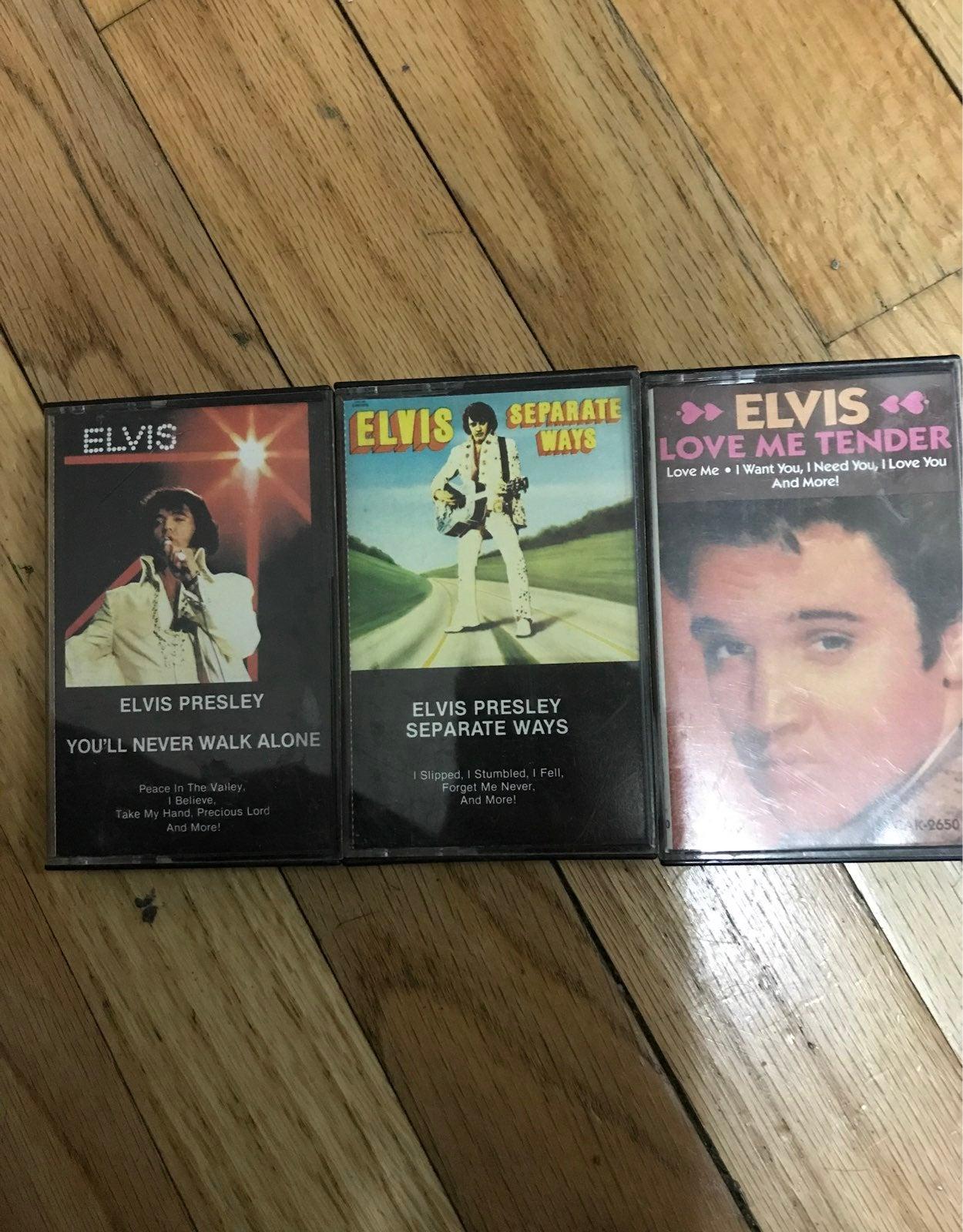 3 RCA elvis presley casetes