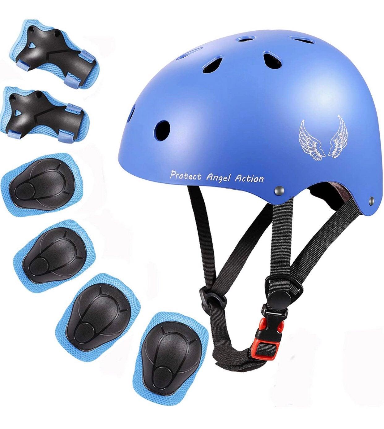Kids Helmet w/ Protective Gear Set