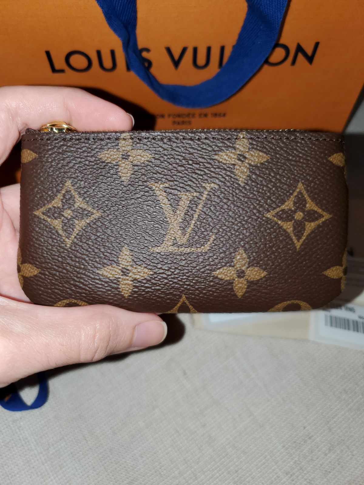 MADE IN FRANCE!! AUTH New LV Key Pouch!