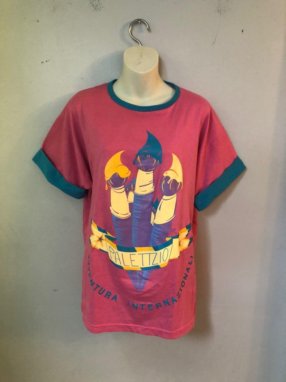 1980s shirt rare palettzii L great shape