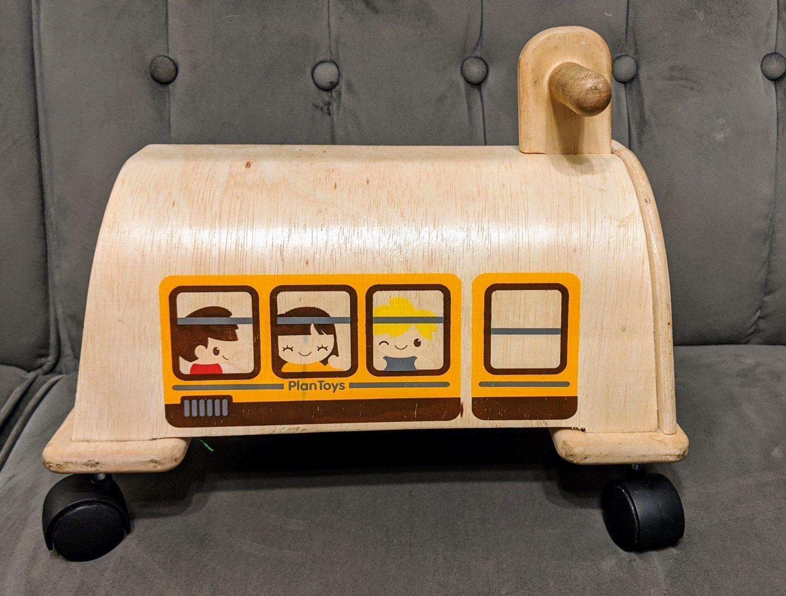 PLAN TOYS Ride On Bus Wood