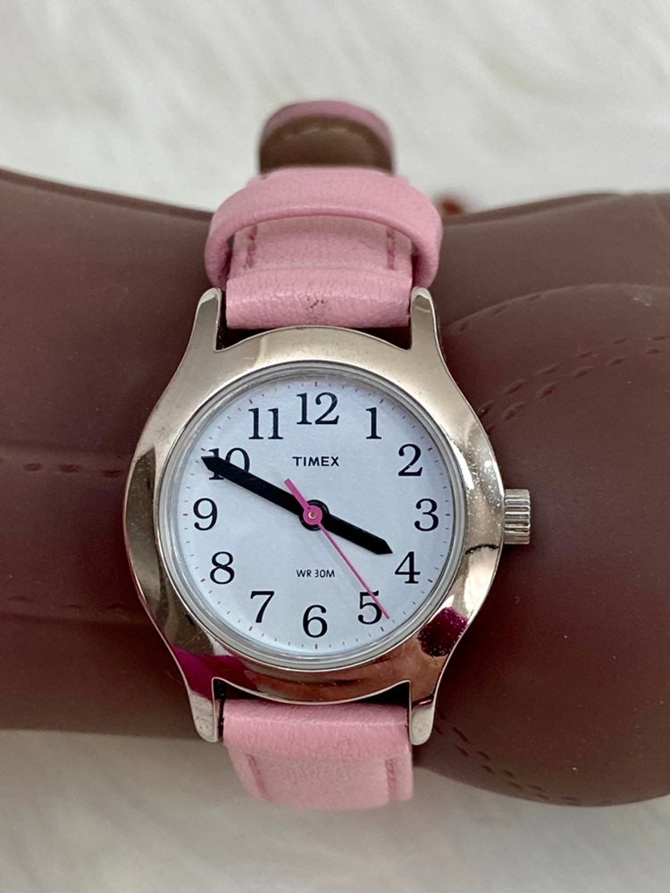 Girls Timex Watch Pink Leather