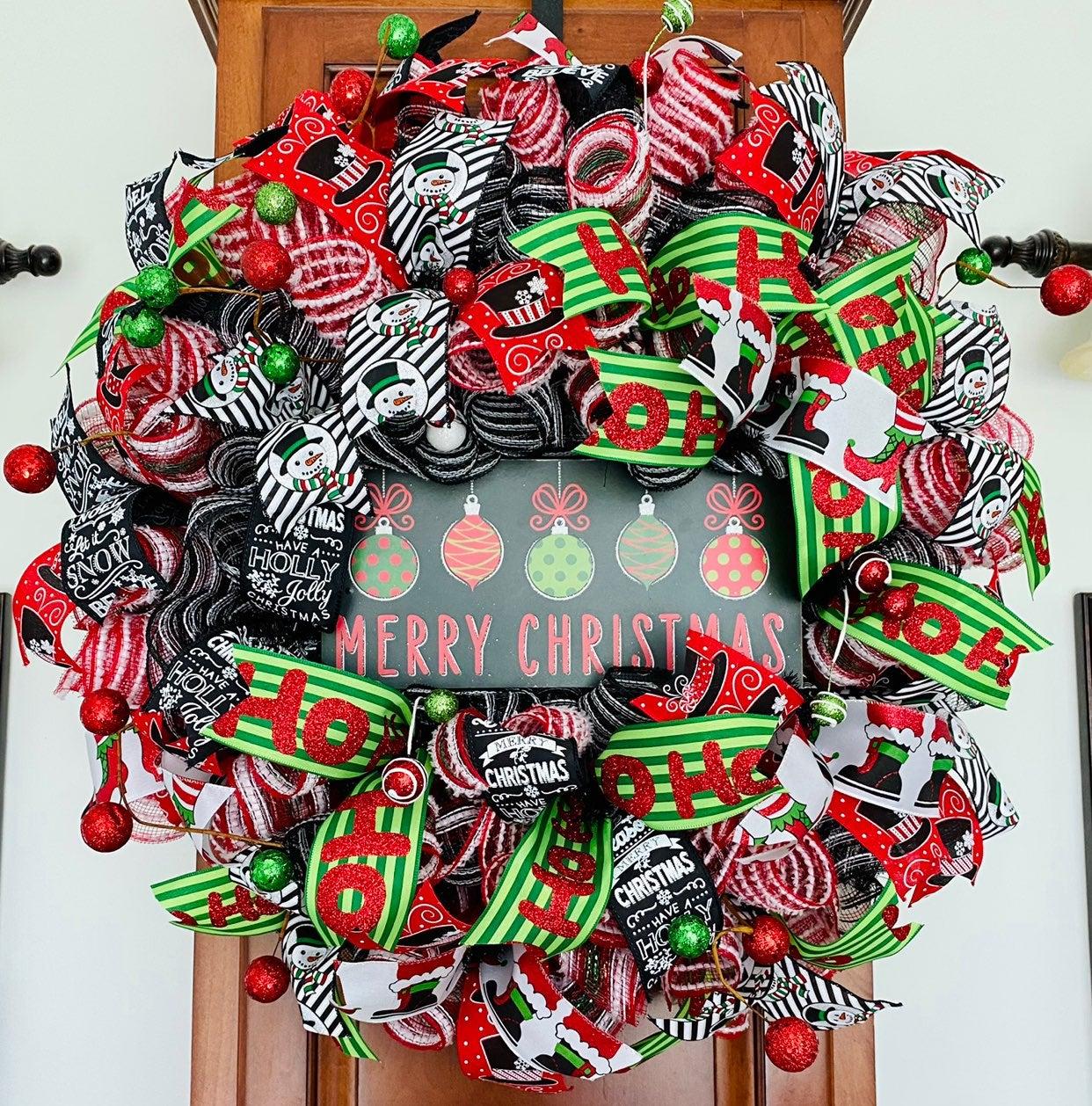 Christmas Wreath with Merry Christmas si