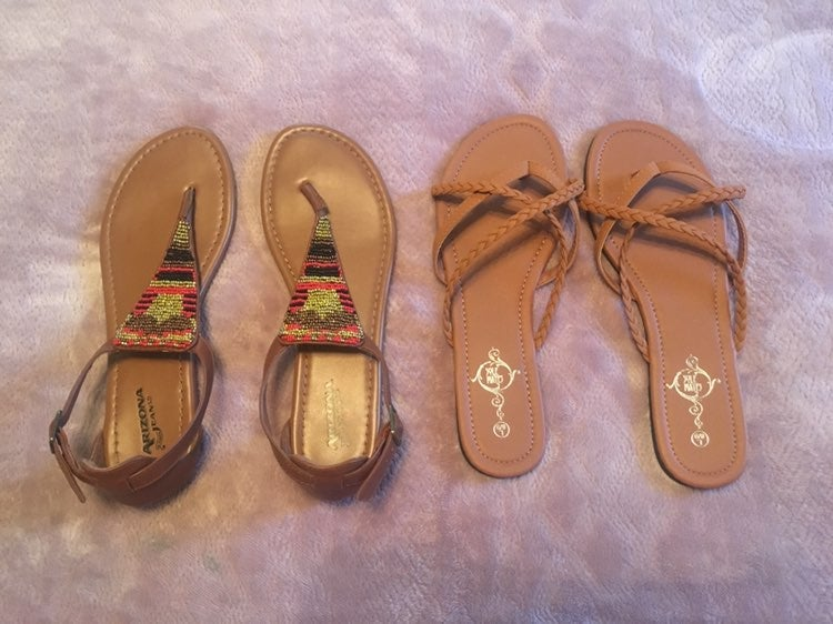 2 pairs of sandals for $12!! Plus free s