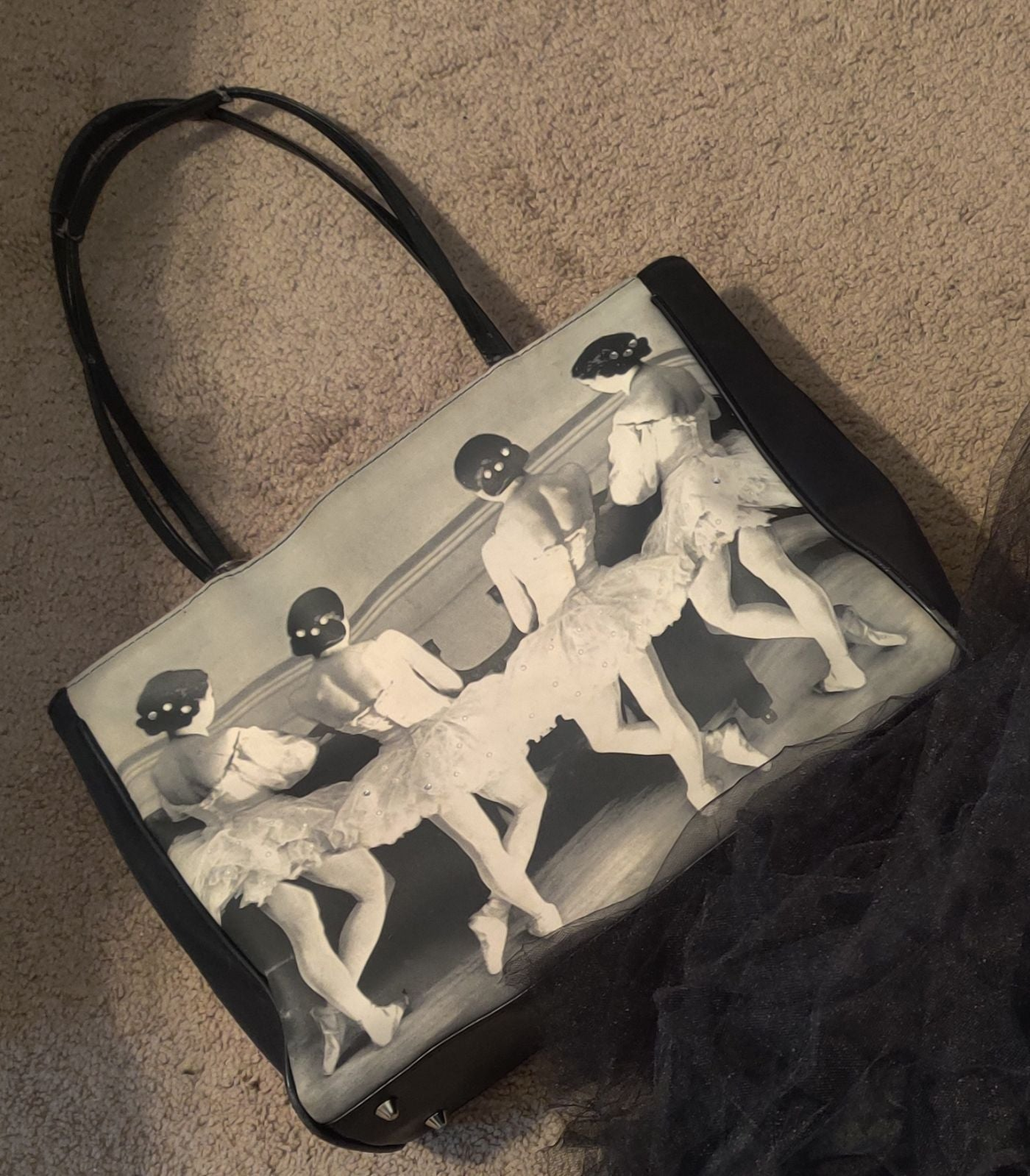 Ballerina handbag and two tulle shirts