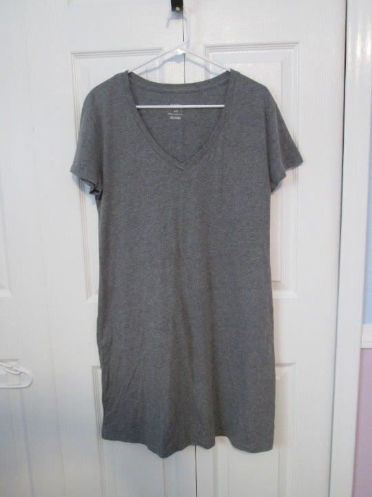 Women's Nightgown Grey T-Shirt Dress