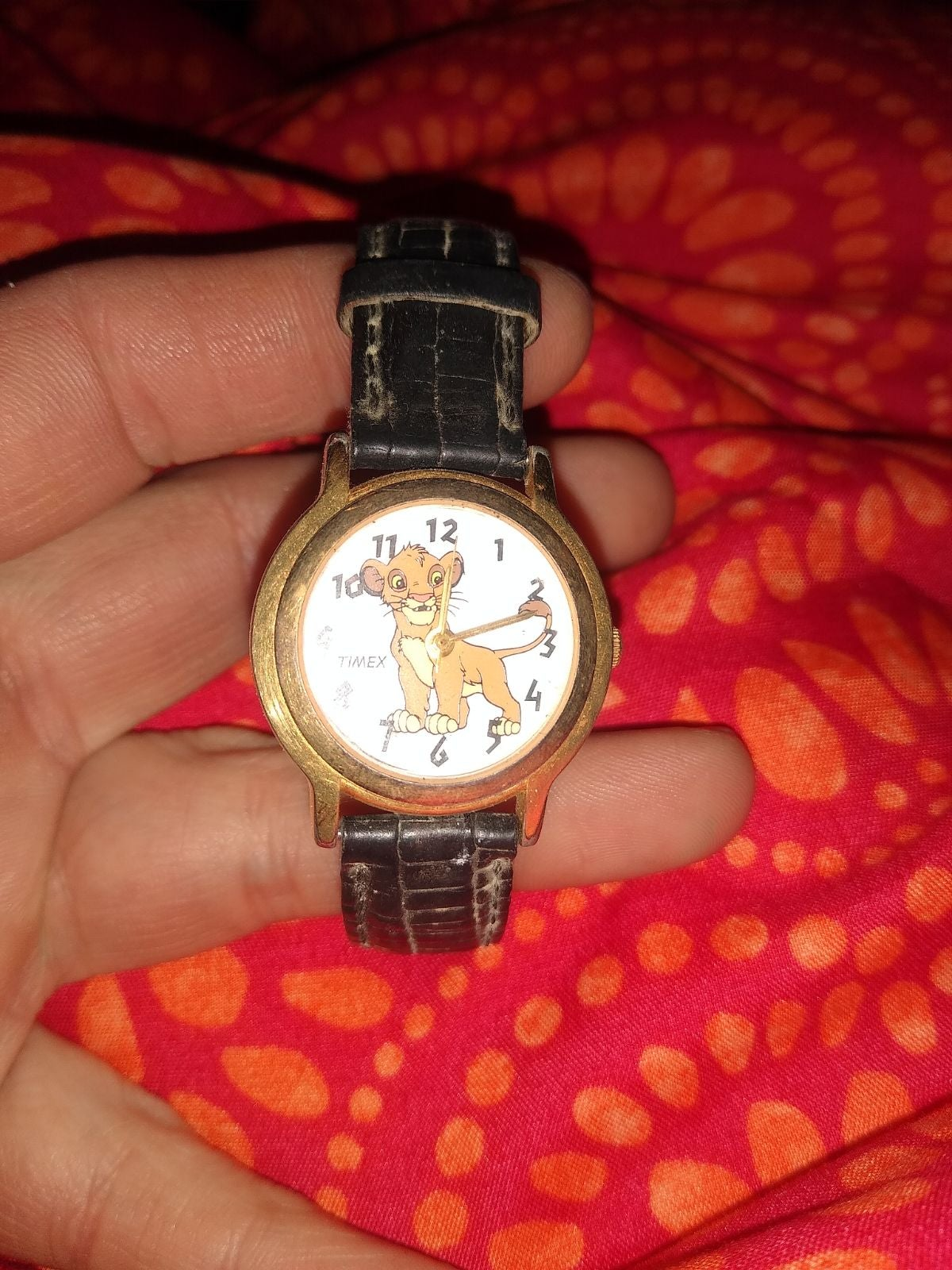 Vintage 1994 lion king timex watch