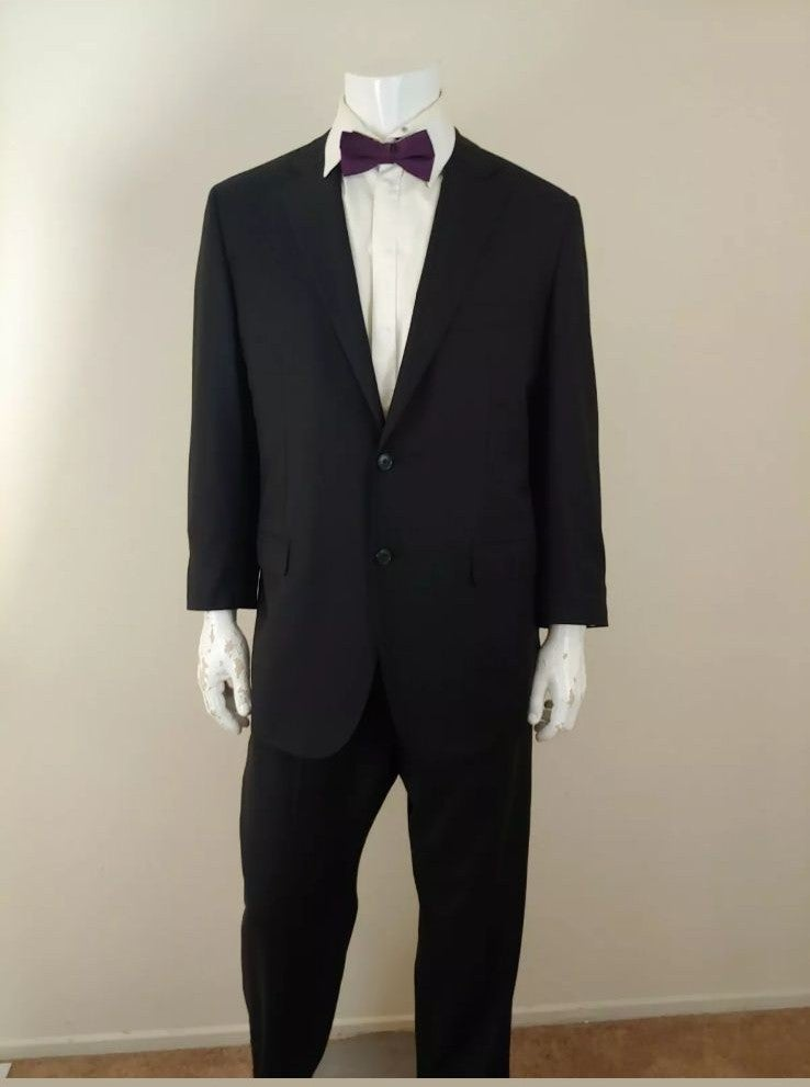 Belvest Carroll & Co. Black Suit Size 46