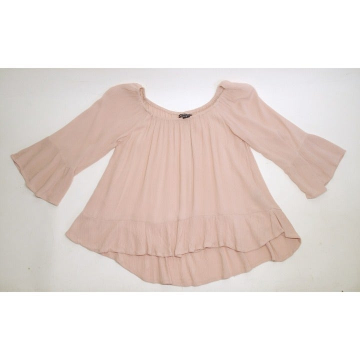 New Look Pink Cold Shoulder Top Size S