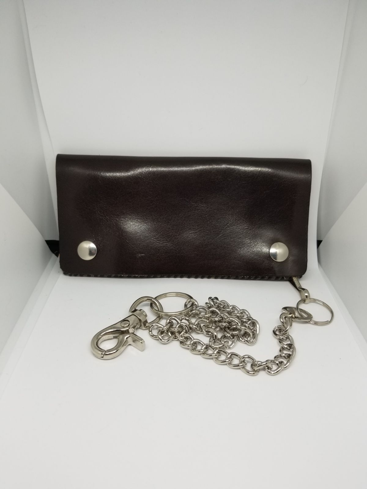 Handmade Leather Wallet with Chain