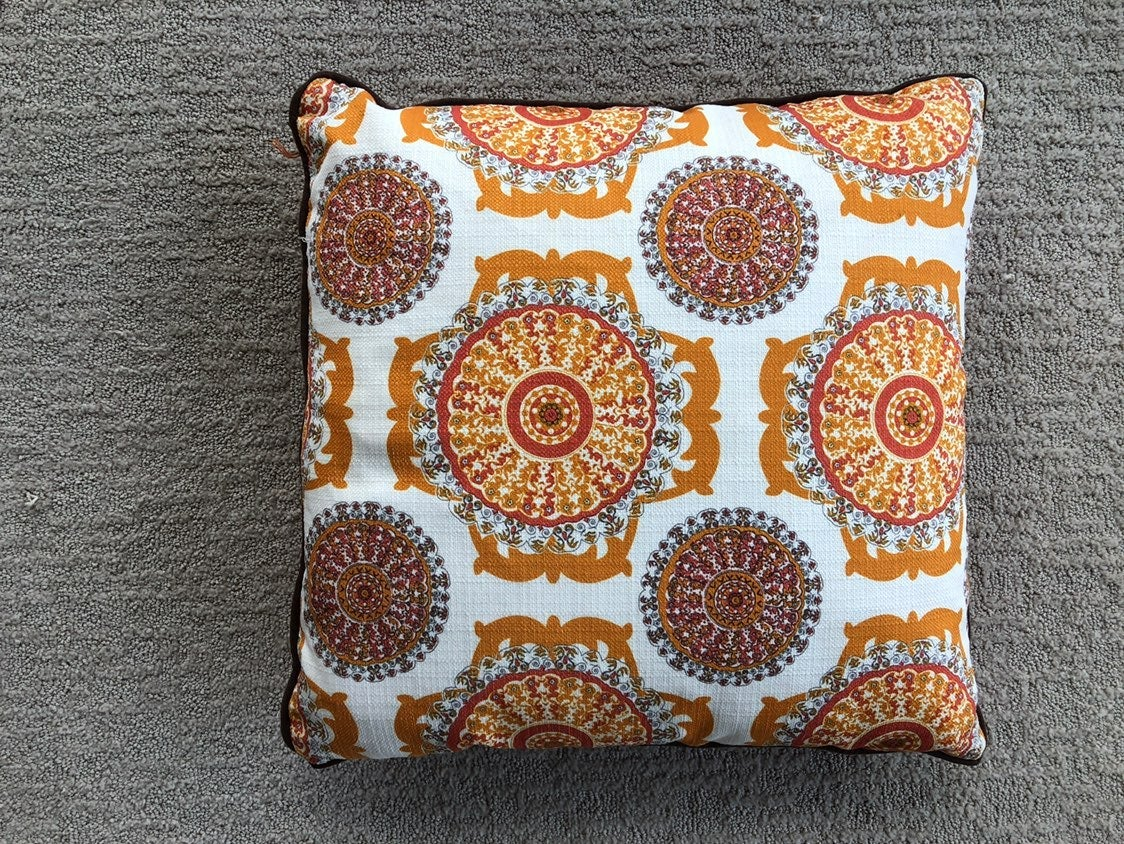 Orange pillow 20x20